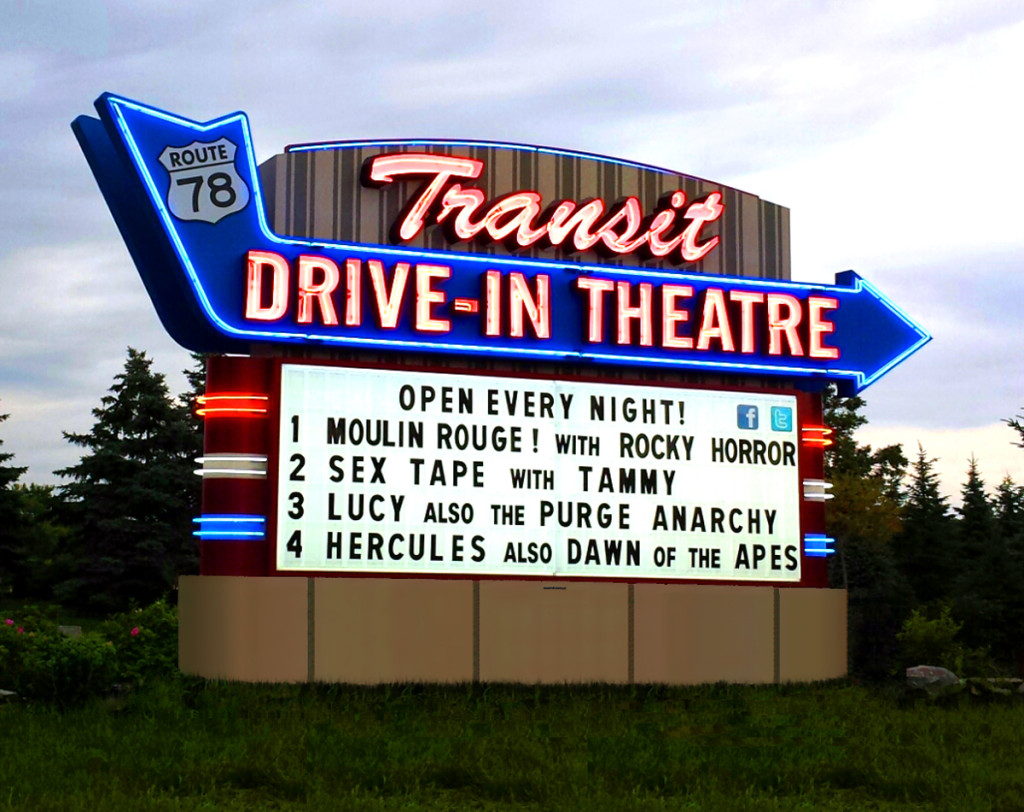 Transit Drive In Theatre Outdoor Signs Buffalo Ny